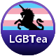 Putting The Tea In Lgbt badge