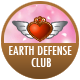 Cute High Earth Defense Club Love! badge