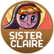 Sister Claire badge