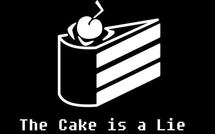 Image result for the cake is a lie