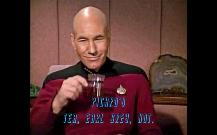 Picard's Tea. Earl Grey, Hot. Tea Earl Grey Tea Picard